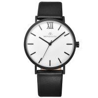 Mendozza Uhr MW-RB0400G-LL Le Blanc Herren Armbanduhr Schwarz Weiß