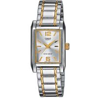 Casio Uhr LTP-1235PSG-7A Damen Armbanduhr Edelstahl Silber Gold Watch NEU & OVP