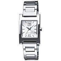 Casio Uhr LTP-1283PD-7A Damen Armbanduhr Edelstahl Silber Lady Watch NEU & OVP