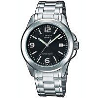 Casio Uhr MTP-1259PD-1A Herren Armbanduhr Edelstahl Schwarz Silber Men NEU & OVP