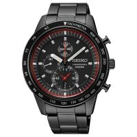 Seiko Uhr SNDD89P1 Herren Chronograph Edelstahl Schwarz Datum Watch NEU & OVP