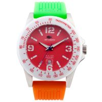 No Limits Uhr NLT30003 Herren Damen Rot Orange Datum Sport Women Men NEU & OVP