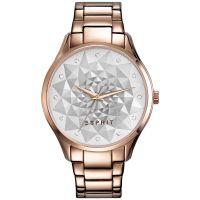 Esprit Uhr ES109022003 Damen Edelstahl Roségold Silber Strass Watch NEU & OVP