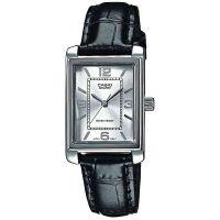 Casio Uhr LTP-1234PL-7AEF Damen Leder Silber Schwarz B-WARE mit Gebrauchsspuren