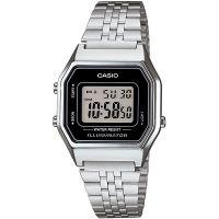 Casio Uhr LA680WA-1DF Digitaluhr Armbanduhr Damen Silber Schwarz Watch NEU & OVP