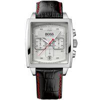 Hugo Boss Uhr 1512734 Herrenuhr Schwarz Silber Leder Men Watch Black NEU & OVP