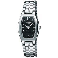 Casio Uhr LTP-1281PD-1AEF Damen Armbanduhr Edelstahl Silber Schwarz NEU & OVP