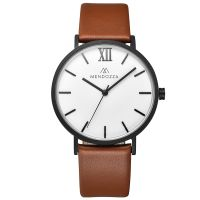 Mendozza Uhr MW-RB0400G-OL Le Blanc Herren Armbanduhr Braun Weiß