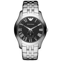 Emporio Armani Uhr AR1706 Herrenuhr Schwarz Silber Edelstahl Men Watch NEU & OVP