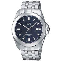 Casio Uhr MTP-1222A-2AVEF Herren Armbanduhr Edelstahl Blau Datum Men NEU & OVP