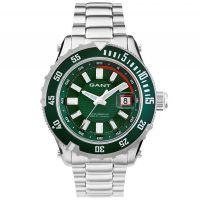 GANT Uhr W70643 Pacific Herren Silber Grün Edelstahl Datum Watch Men NEU & OVP