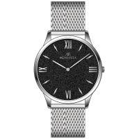 Mendozza Uhr MW-GS0104H-SM Black Sand Armbanduhr Schwarz Silber