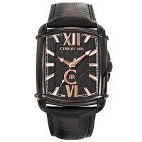 Cerruti 1881 Uhr CRB037F222B Herrenuhr Leder Schwarz Roségold Watch NEU & OVP