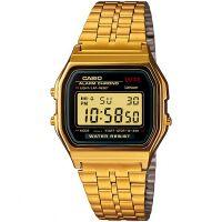 Casio Uhr A159WGEA-1EF Retro Digital Armbanduhr Herren Damen Schwarz NEU & OVP