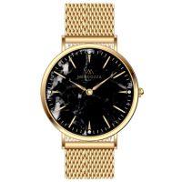Mendozza Uhr MW-PG0204L-GM Black Marble Marmoruhr Gold