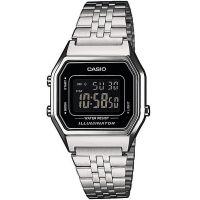 Casio Uhr LA680WEA-1BEF Digitaluhr Armbanduhr Damen Silber Schwarz NEU & OVP