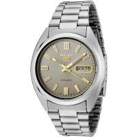 Seiko 5 Gent Uhr SNXS75K Automatikuhr Silber Grau Gold Herrenuhr Watch NEU & OVP