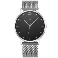 Mendozza Uhr MW-RS0104H-SM Midnight Black Armbanduhr Schwarz Silber