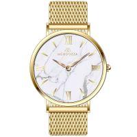 Mendozza Uhr MW-OG0200H-GM White Marble Marmor Armbanduhr Gold