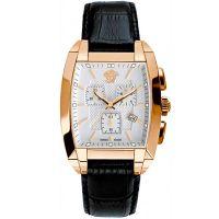 Versace Uhr WLC80D002S099 Herrenuhr Chrono Weiß Roségold Leder Watch NEU & OVP