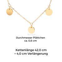 Mendozza Kette MJ-NE02763L Damen Collier Gold Coins Anhänger