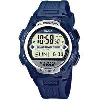 Casio Uhr W-756-2AVES Herren Damen Digitaluhr Armbanduhr Blau Silber NEU & OVP