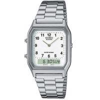 Casio Uhr AQ-230A-7BMQYES Analog Digital Herren Damen Weiß Watch NEU & OVP