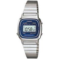 Casio Uhr LA670WA-2DF Damen Armbanduhr Digitaluhr Silber Blau Watch NEU & OVP