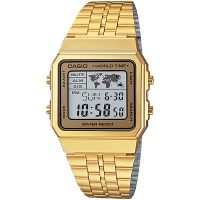 Casio Uhr A500WGA-9DF Retro Digitaluhr Armbanduhr Herren Damen Gold NEU & OVP