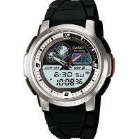 Casio Uhr AQF-102W-7B Armbanduhr Analog Digital Herren Silber Schwarz NEU & OVP
