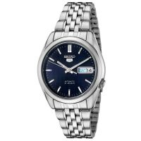 Seiko 5 Gent Uhr SNK357K1 Herren Automatikuhr Silber Blau Watch NEU & OVP