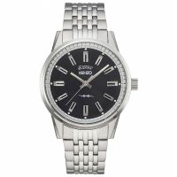 Kenzo Uhr 960110 Herrenuhr Schwarz Silber Edelstahl Men Watch NEU & OVP
