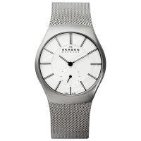Skagen Uhr 916XLSSS Herrenuhr XL Milanaise Armband Silber Analog Watch NEU & OVP