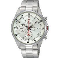 Seiko Uhr SNDC87P1 Herrenuhr Chronograph Silber Edelstahl Datum Watch NEU & OVP
