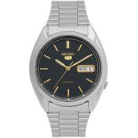Seiko 5 Gent Uhr SNXG53K Automatikuhr Schwarz Gold Herrenuhr Watch NEU & OVP