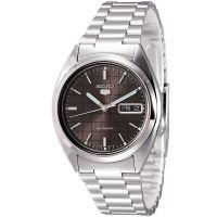 Seiko 5 Gent Uhr SNXF07K Automatikuhr Silber Schwarz Herrenuhr Watch NEU & OVP