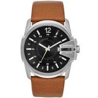 Diesel Uhr DZ1617 Herrenuhr Master Chief Braun Edelstahl Leder Watch NEU & OVP