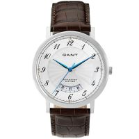 GANT Uhr W10902 Colton Herren Lederarmband Braun Silber Blau Datum Men NEU & OVP