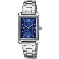 Casio Uhr LTP-1234PD-2AEF Damen Armbanduhr Edelstahl Silber Blau Watch NEU & OVP