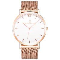 Mendozza Uhr MW-RR0300H-RM White Moon Armbanduhr Roségold Weiß
