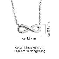 Mendozza Kette MJ-NE01020L Damen Collier Silber Infinity Anhänger