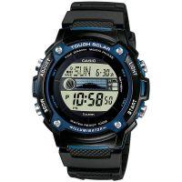 Casio Uhr W-S210H-1A Herren Solaruhr Digital Armbanduhr Schwarz Blau NEU & OVP