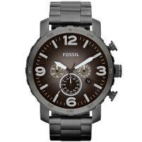 Fossil Uhr Nate JR1437 Herrenuhr XXL Chronograph Grau Edelstahl Watch NEU & OVP