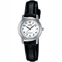 Casio Uhr LTP-1236PL-7BEF Damen Armbanduhr Leder Silber Schwarz Watch NEU & OVP
