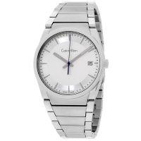 Calvin Klein Uhr K6K31146 Step Herren Edelstahl Silber Swiss Made NEU & OVP