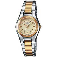 Casio Uhr LTP-1280PSG-9AEF Damen Armbanduhr Edelstahl Silber Gold NEU & OVP