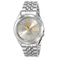 Seiko 5 Gent Uhr SNKL19K1 Herren Automatikuhr Silber Grau Gold Watch NEU & OVP