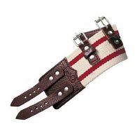 Dolce&Gabbana Armband DJ0725 ROUGH Herren Echtleder Weiß/Rot Man NEU & OVP