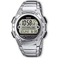 Casio Uhr W-756D-7AVES Herren Damen Digital Armbanduhr Schwarz Silber NEU & OVP