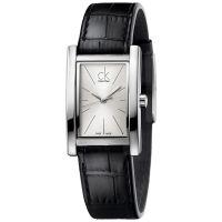 Calvin Klein Uhr K4P231C6 Refine Damen Leder Schwarz Silber Swiss Made NEU & OVP
